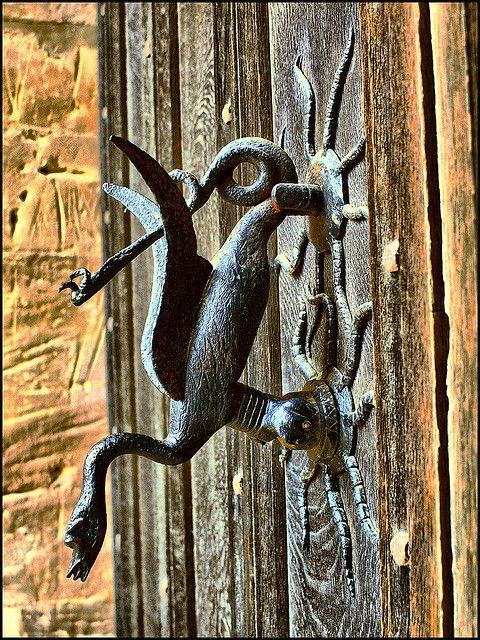Welshpool Castle dragon door knocker