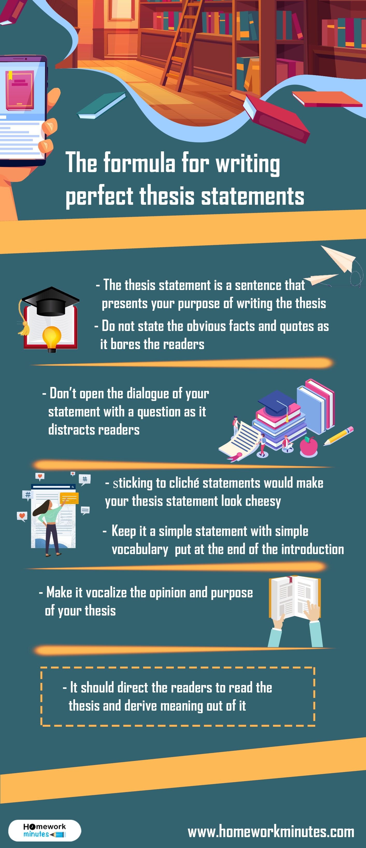 The Formula For Writing Perfect Thesis Statements