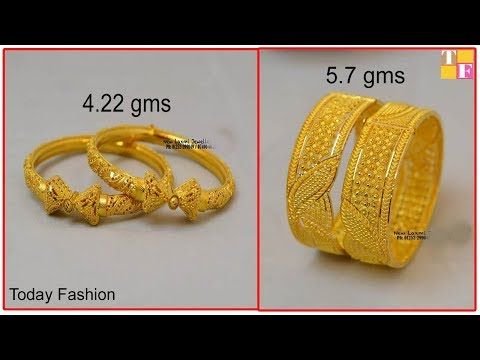 1b1c6023bac24c latest matte finish 1 Gram gold bangles With Price || 1 Gram gold jewellery  -