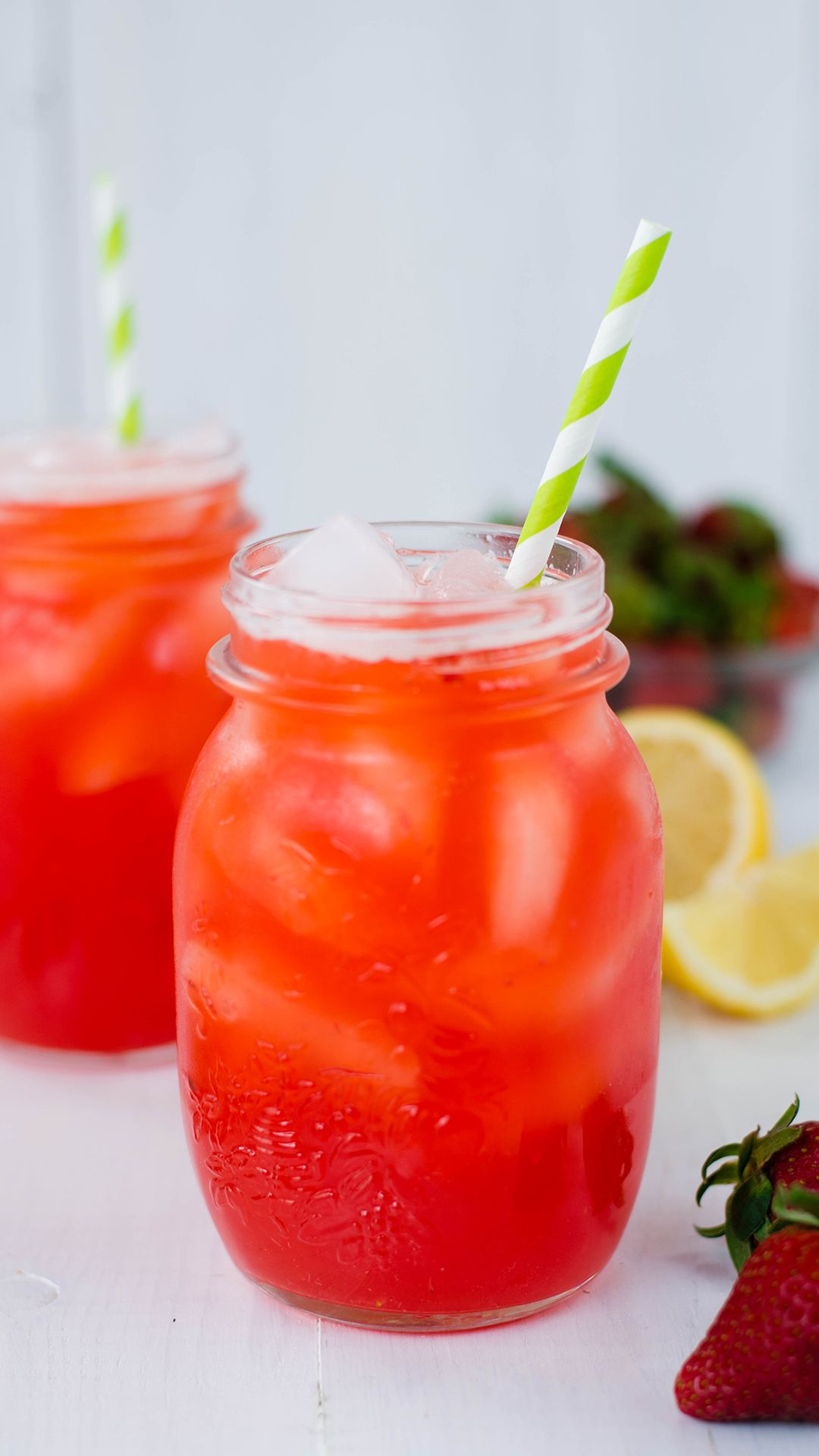 Honey Strawberry Lemonade #foodanddrink