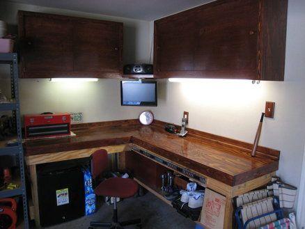 L Shape Work Bench Wood Shop Pinterest Workbenches