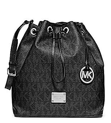 d51e8a3f90a8 MICHAEL Michael Kors Jules Large Monogram Drawstring Handbag Black ...