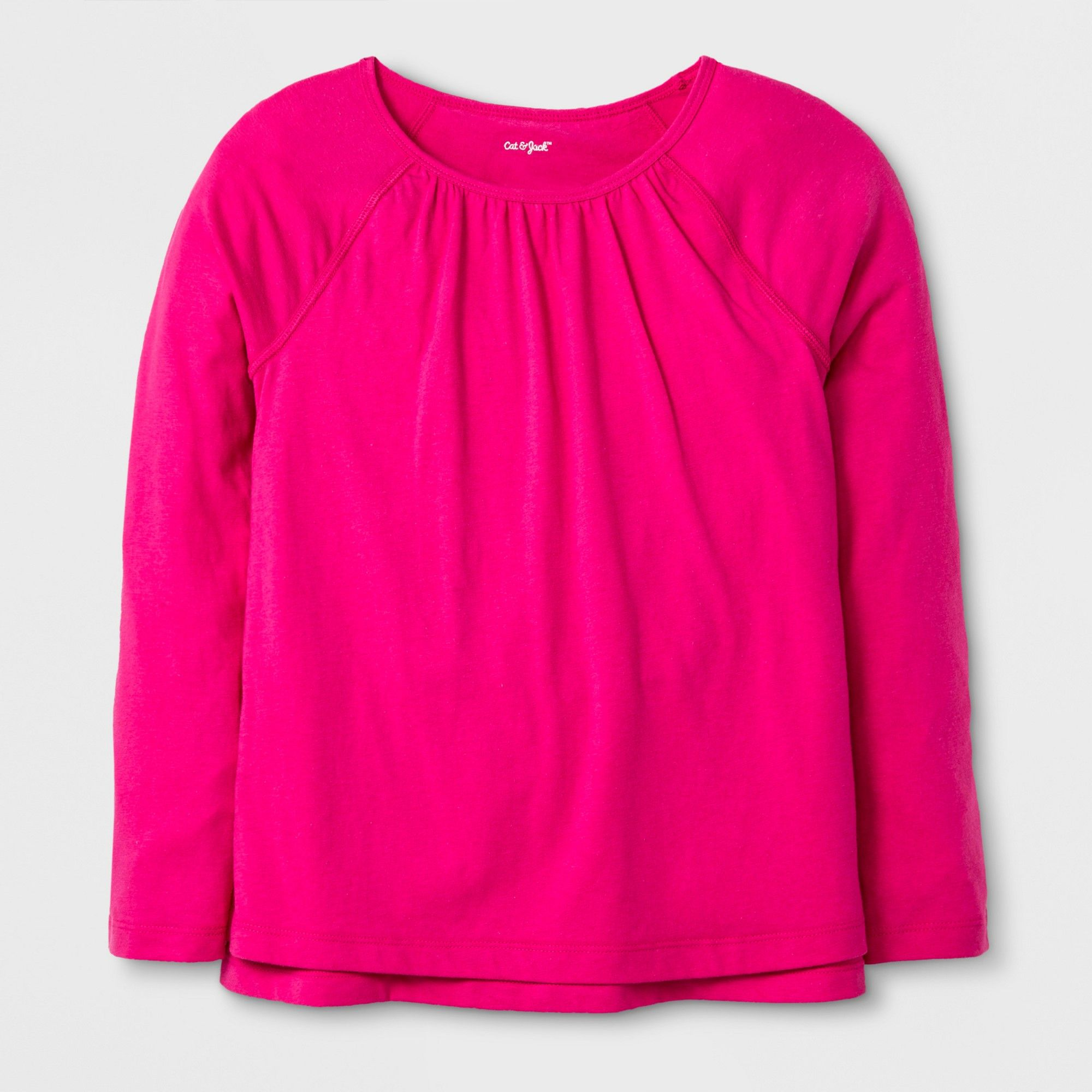 fde5a72f0 Girls' Adaptive Long Sleeve Top - Cat & Jack Pink XS | Products ...