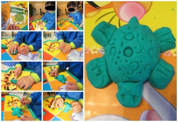 la tortue en pâte à modeler | Tortue, Pate a modeler, Animaux