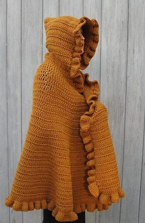 Hooded Cape Crochet Pattern Free You Will Love This Stunner | Cape ...
