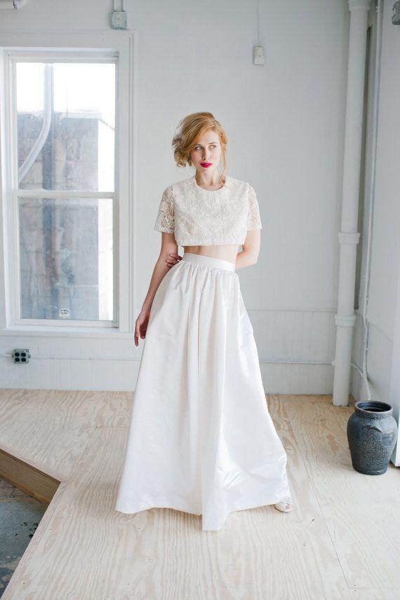 20 looks de novia con crop top | boda | novios, vestidos de novia y