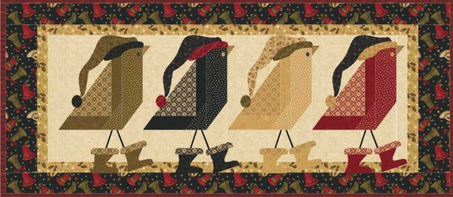 Bird Baths | Christmas - Panel / PP / QQ | キルト