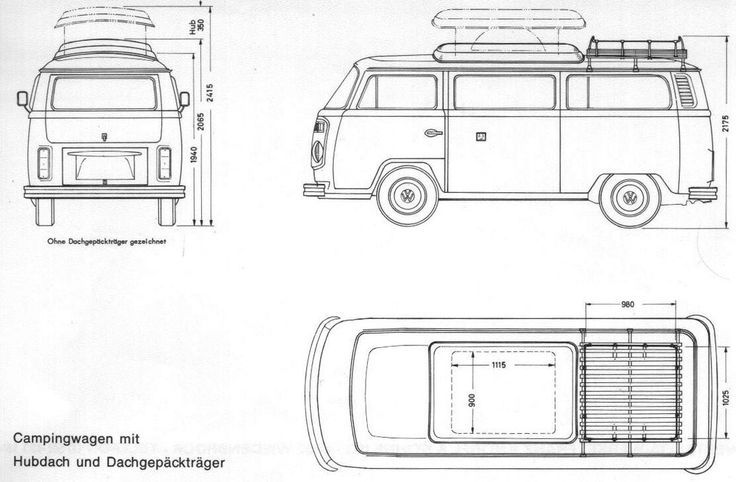 vw westfalia interior dimensions