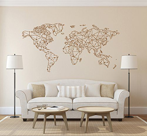Ik1344 wall decal sticker world map bedroom living room ik1344 wall decal sticker world map bedroom living room stickersforlife http gumiabroncs Gallery