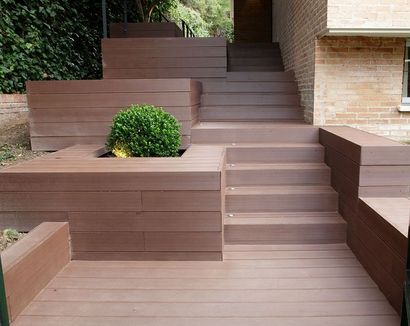 Ideas de paisajismo de exterior jardin escalera for Escalera de bloque de jardin