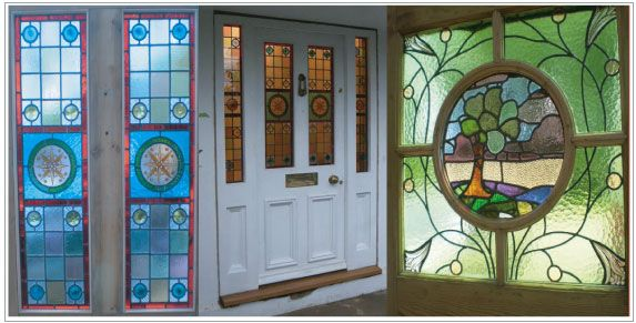 Light flooding into your entrance hall through a stained glass panel reclaimed and restored antique doors stained glass town house doors georgian door victorian door edwardian door stained glass panels serving the planetlyrics Gallery