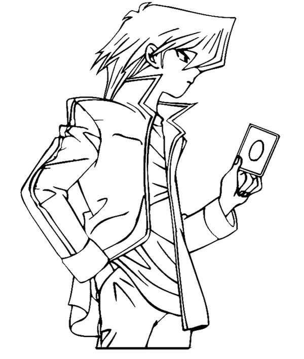 Joey Wheeler Cololoring Page Coloring Pages Yugioh Coloring