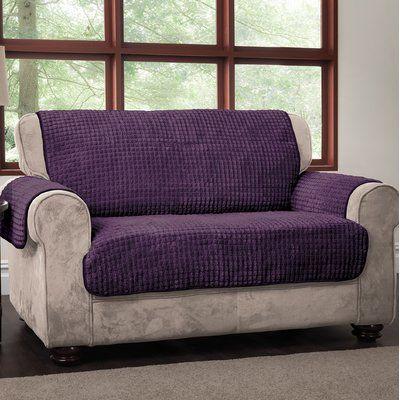 Winston Porter Box Cushion Loveseat Slipcover Loveseat Slipcovers Love Seat Furniture Covers