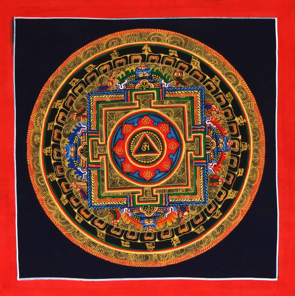 This mandala was hand painted in nepal at the center of this at the center of this mandala sits the buddhist om symbol the most sacred mantra a call to the universe this wonderful piece of art is biocorpaavc Images