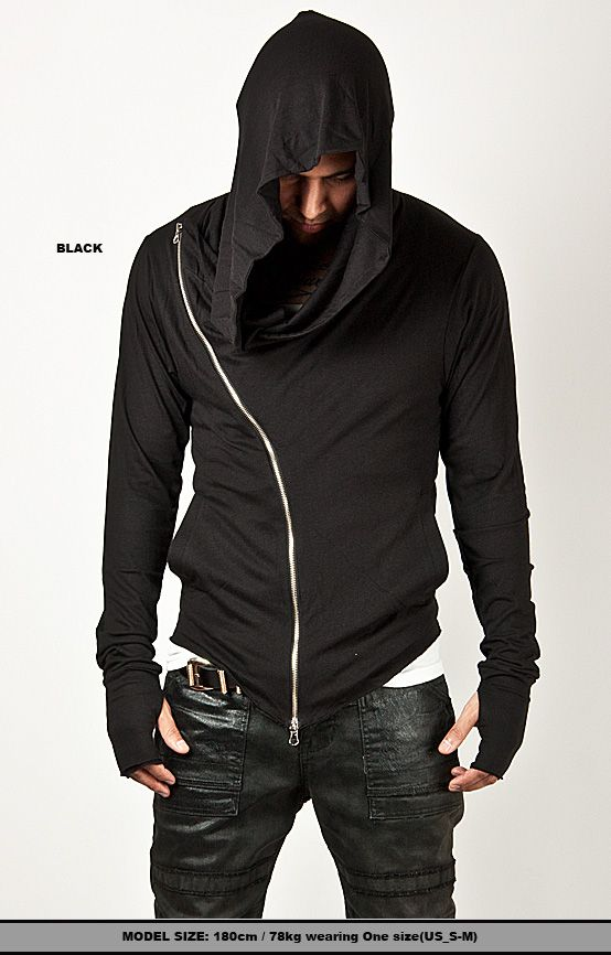 Unbeatable Arm Warmer Diagonal Zip Mens Assassin Creed Hoodie