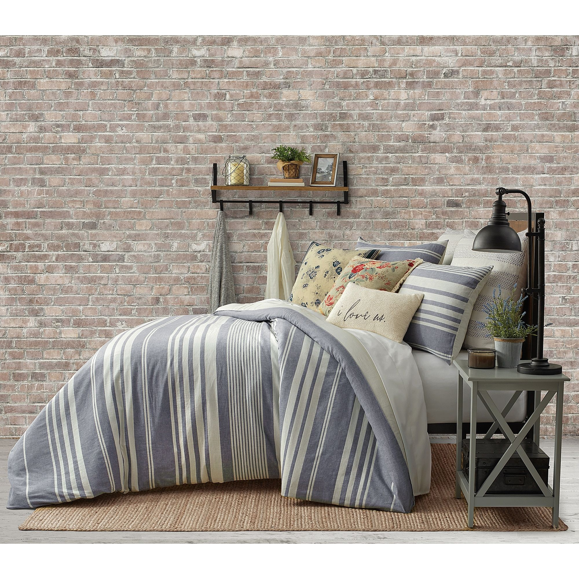 Bee Willow Home Yarn Dye Stripe Comforter Set Comforter Sets