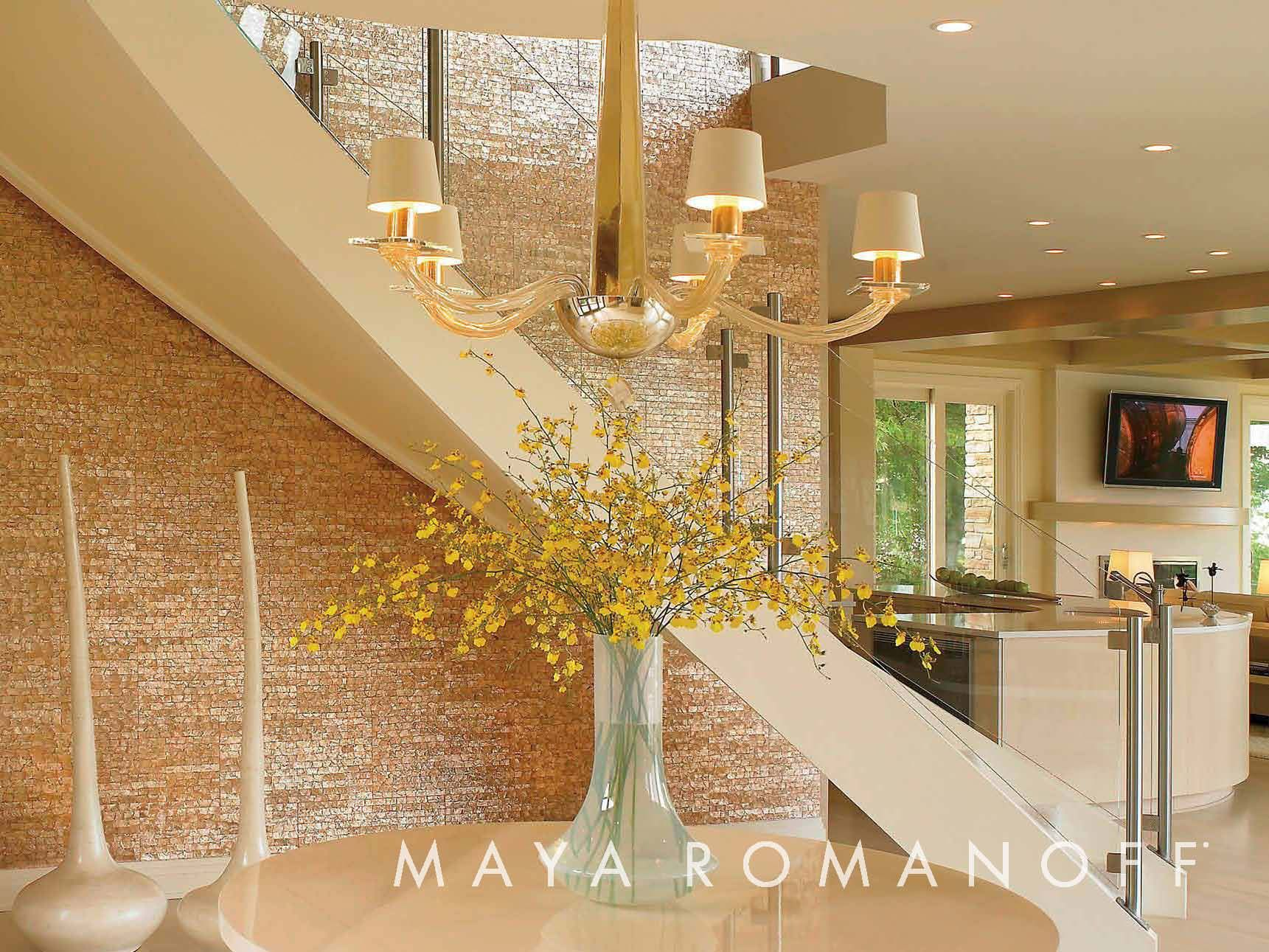 Maya Romanoff\'s Mother of Pearl Tiles glow brilliantly in this ...