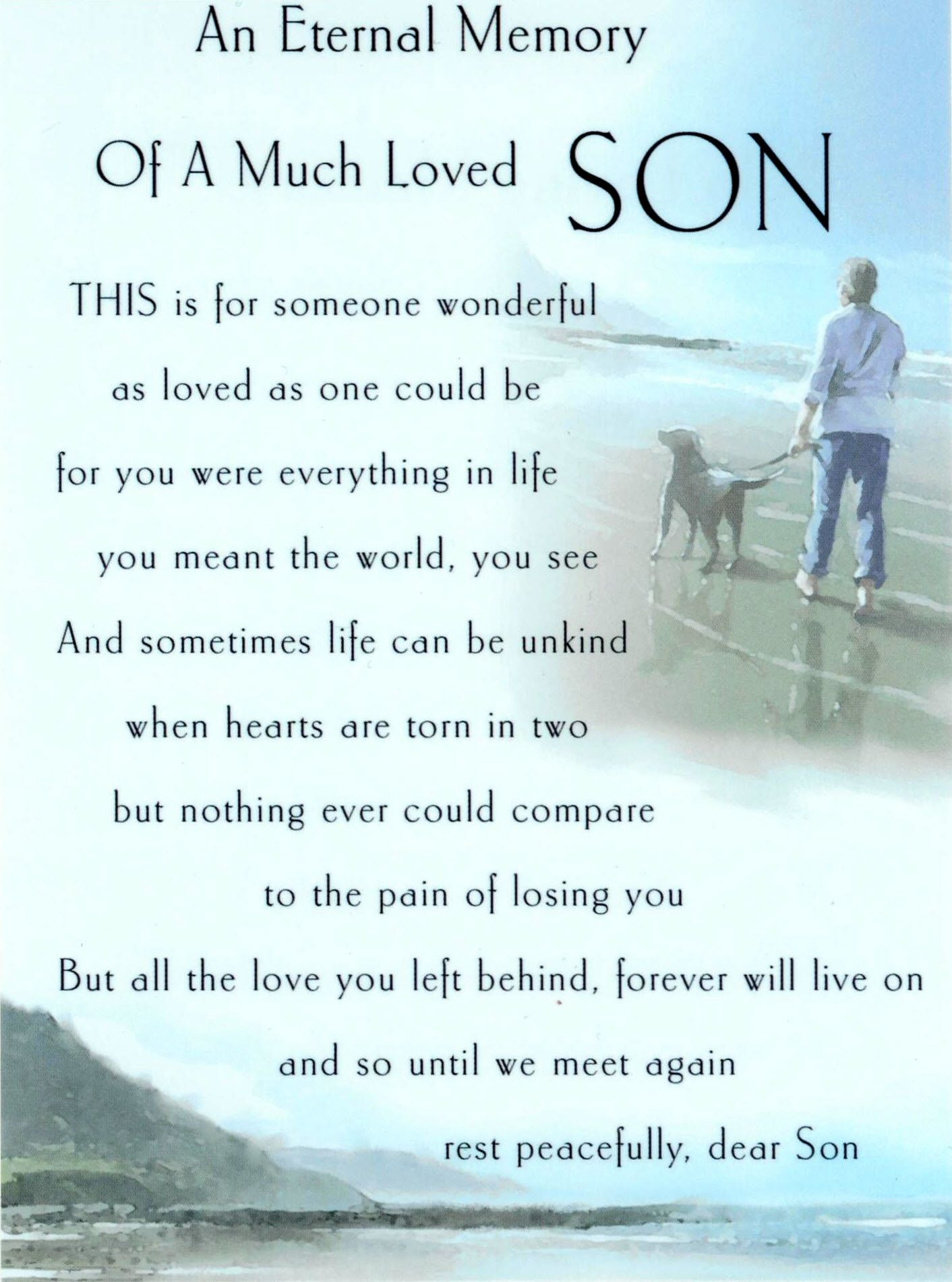 My Sons in Heaven | Quotes | Missing my son, Loss of son, Son poems