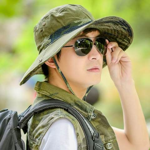e3908742082a7 Outdoor fishing bucket hat UV package Camouflage sun hats for men ...