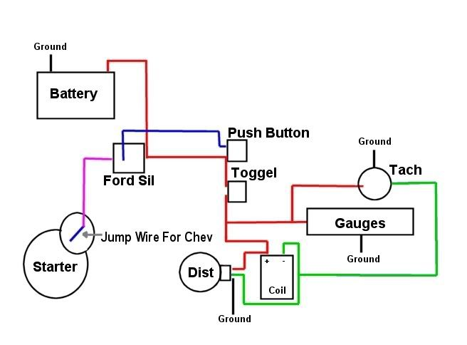 4 Wire Ignition Switch Wiring Diagram