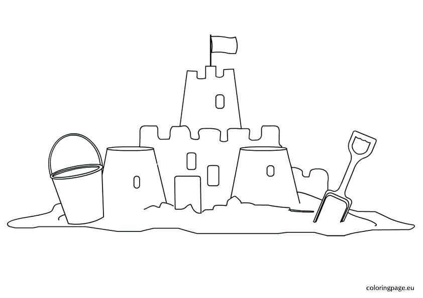 Easy Sand Castle Coloring Page Revisited Sandcastle Castle Coloring Page Cool Coloring Pages Coloring Pages