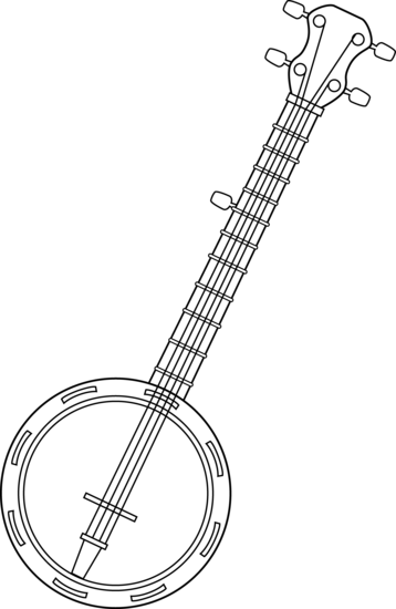 banjo coloring pages print Google Search musical instruments