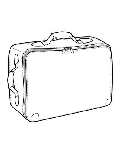 Suitcase Flat Sketch For Design Google Search Suitcase Travel