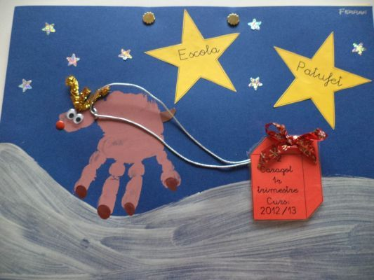 Pulsa para ver la imagen a tama o completo navidad - Postales de navidad hechas por ninos ...