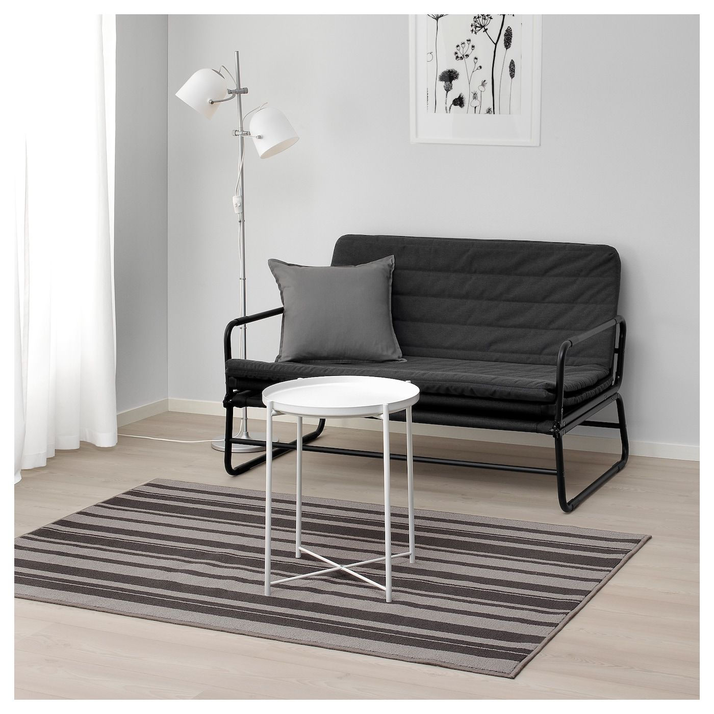 Ibsted Tapis Poils Ras Gris 120x180 Cm Ikea Living Room