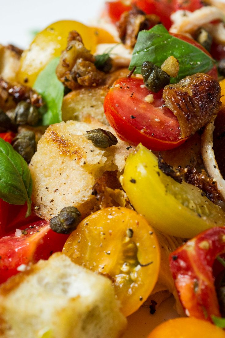 Panzanella With Crisp Chicken Skin | Recipe (With images ...