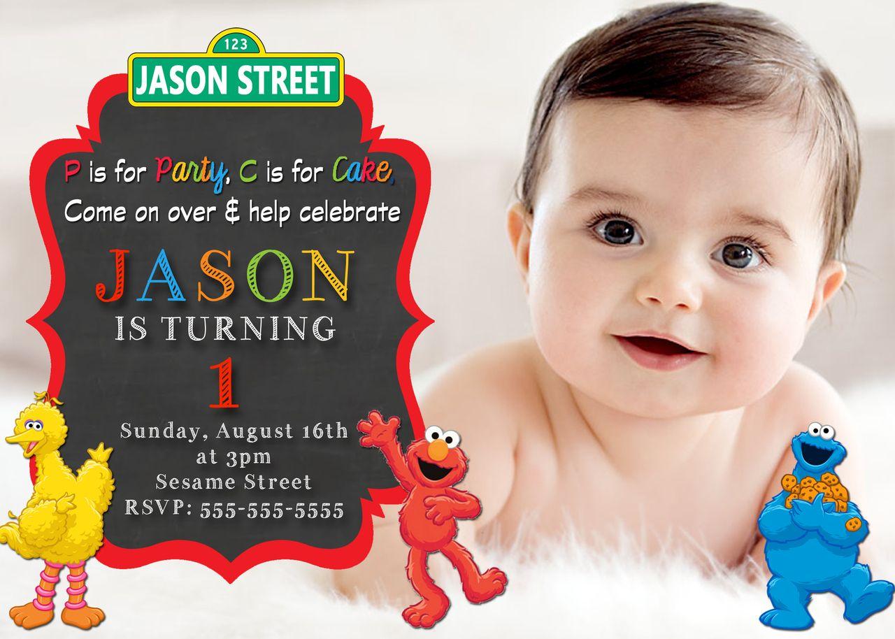 Sesame Street Elmo Birthday Invitations   Elmo birthday invitations ...