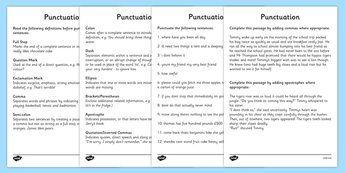 Punctuation Worksheets - punctuation, punctuation worksheet ...