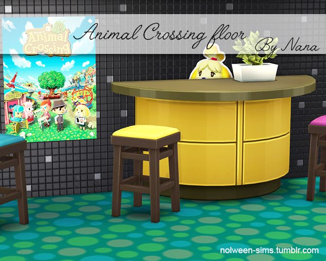 Animal crossing Floor 12 color, Poster, Stickers  by Nana \u2022 Don\u0027t
