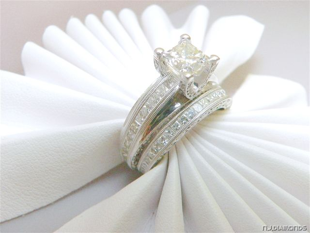 wedding rings set Weddingdressone Pinterest Ring Diamond