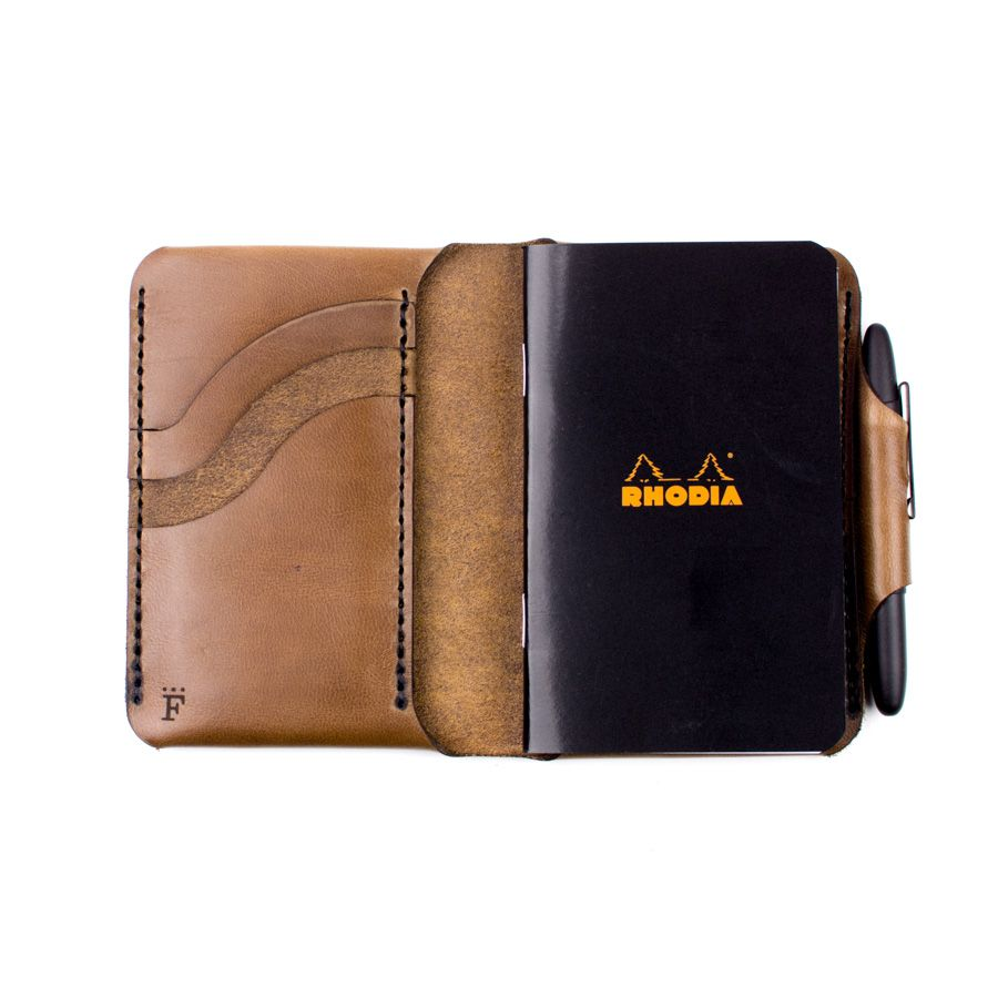 Charette Wallet Wallet Leather Craft Small Notebook