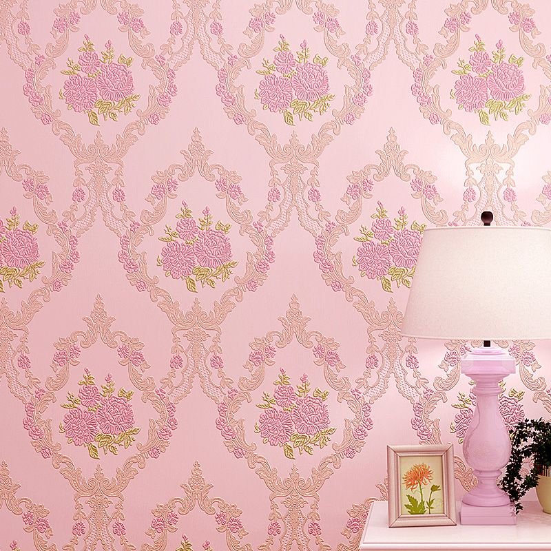Stereo warm bedroom bedroom living room non-woven 3d wallpapers ...