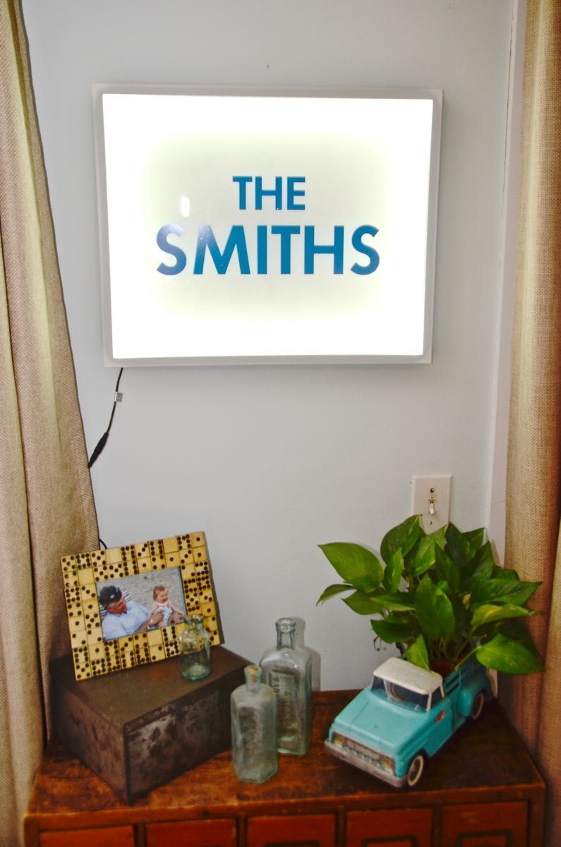 DIY Marquee Letter Light Box