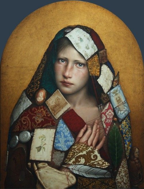 Dino Valls Nigredo 2010 .oil and gold leaf on board