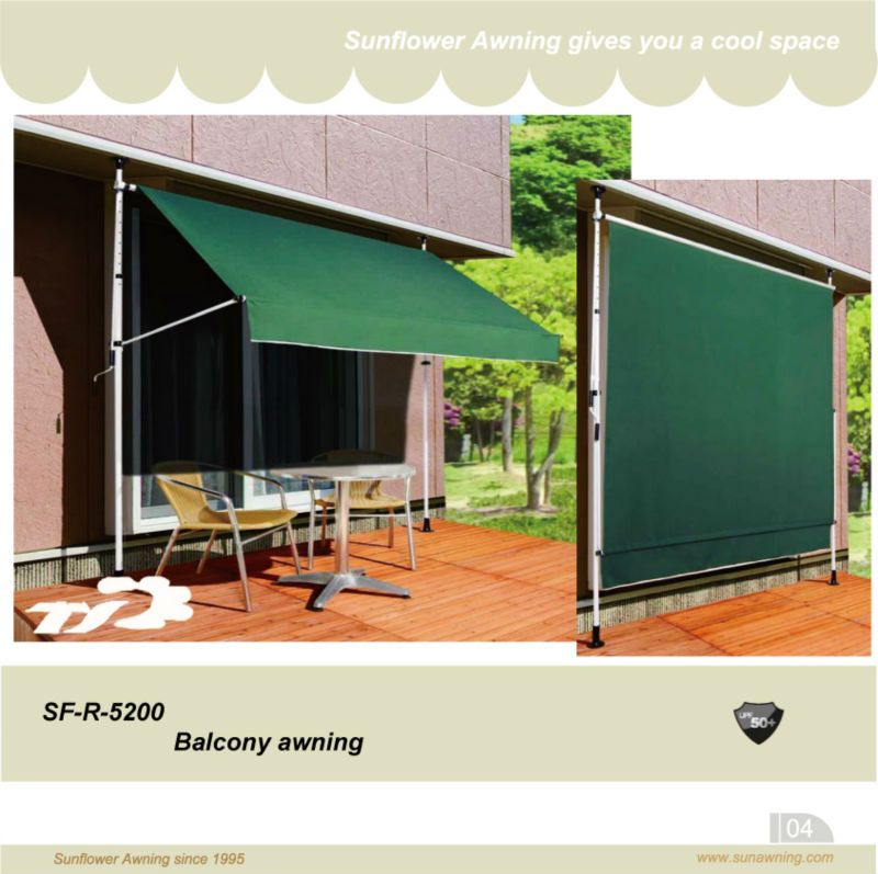 Simple Awning Tent Japan Style Stainless Window Awning Sunshade Used For Window Or Balcony Waterproof Fabric With Upf Banyo