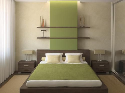 Hevea Grove: Simple, Zen Like Bedding On Platform Bed. Mix Of Lines U0026  Curves. Idée Déco Peinture Chambre ...
