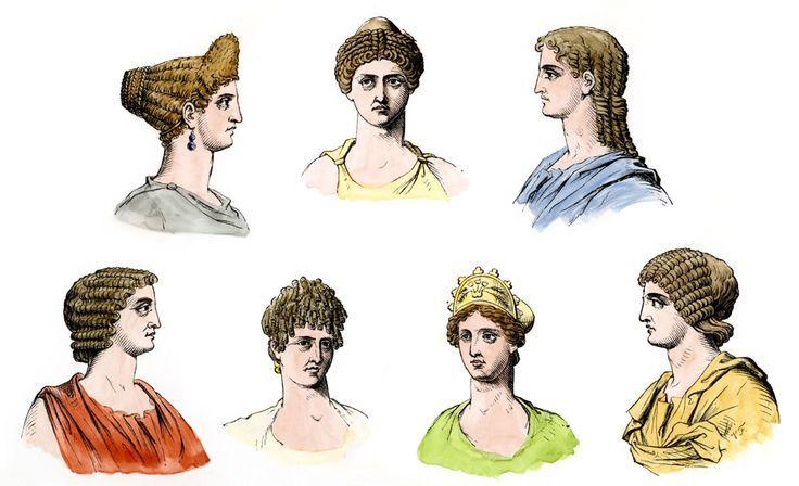 Différentes coiffure de femmes romaines durant l'antiquité