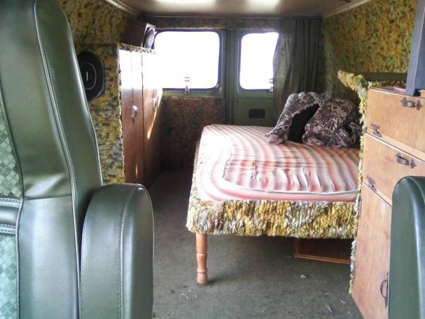 1976 Ford Econoline Van Interior With Images Van Living Van