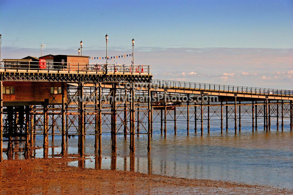 Southend on Sea Pier and Beach, Essex photograph picture print by AE Photo