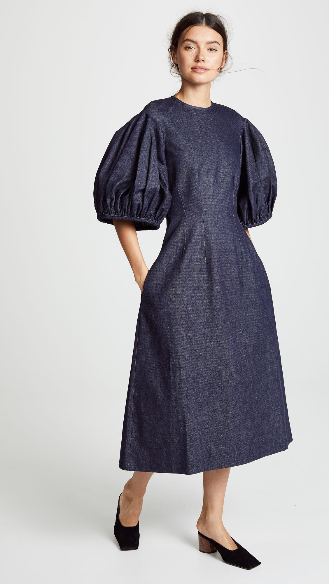 Edit balloon sleeve dress kollette most coveted