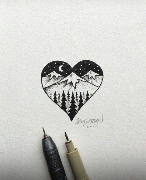 рисунки для скетчбука фото