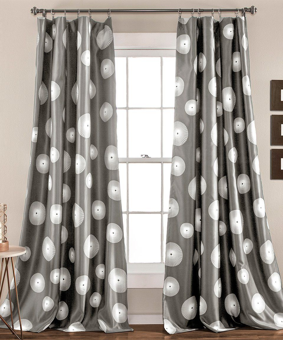 Take A Look At This Gray Ovation Room Darkening Curtain Panel Set Of Two Today Curtains Lush Decor Cool Curtains