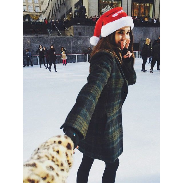 Maia looks like she is ready for winter. Her plaid coat is so cute! | The Fosters