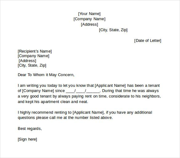 positive tenant reference letter - Yahoo Image Search results