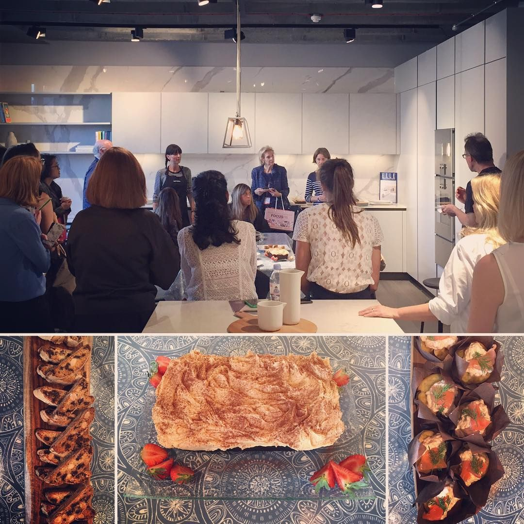 Baking demonstration by Gaggenau followed by delicious sweet treats at Espresso Design #Focus16