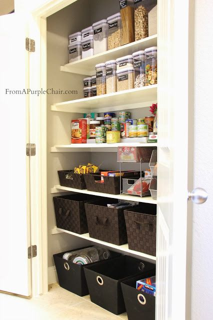 10 realistically organized pantries home details pinterest rangement cellier et rangement. Black Bedroom Furniture Sets. Home Design Ideas